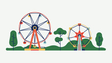 Amusement Park Ferris Wheels