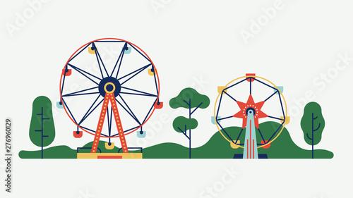Fényképezés Amusement park ferris wheels