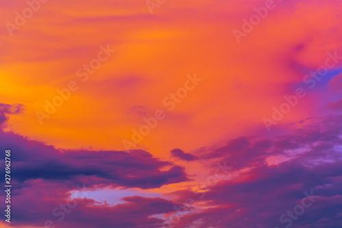 Foto auf AluDibond Rot Red sky background