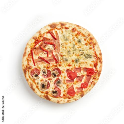 Fotografie, Obraz  Four seasons pizza isolated