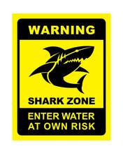 Shark Zone Warning - Shark Sil...
