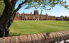 Eastbourne College, East Sussex, England. The Main Building And Cricket Grounds Of The Co-educational Independent Private School On The UK South Coast.