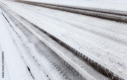 Fotografía  Snow drifts in winter