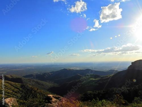 Fotografija  Aerial view of Alto do Céu Observatory, Chapada dos Guimarães, Mato Grosso, Brazil
