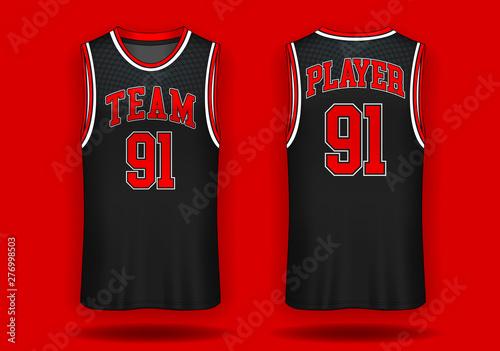 Basketball jersey, Tank top sport illustration. Tableau sur Toile