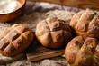 Freshly baked homemade buns