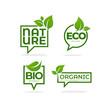 Nature, Organic, Bio, Nature c leave emblems,  frames and logo