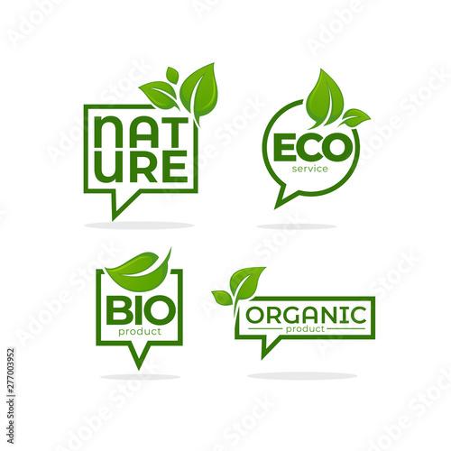 Obraz na płótnie Nature, Organic, Bio, Nature c leave emblems,  frames and logo