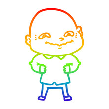 Rainbow Gradient Line Drawing ...