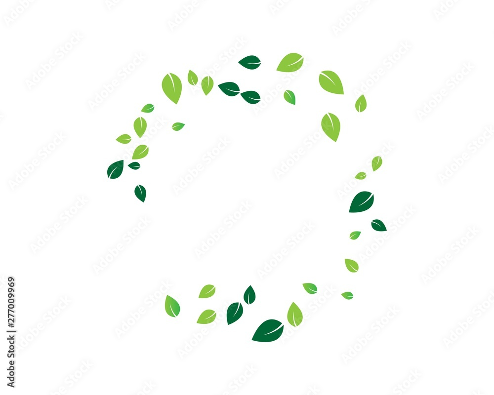 Fototapety, obrazy: Logos of green leaf ecology nature element vector icon