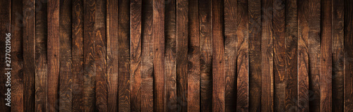 Obraz Wooden rustic brown planks texture vertical background - fototapety do salonu