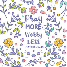 Pray More Worry Less Vector Ty...