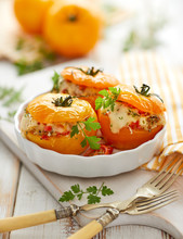 Stuffed Tomatoes, Baked Yellow...