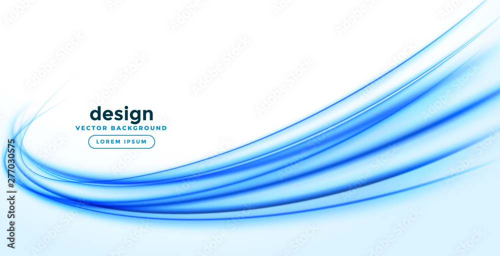Fototapety, obrazy: abstract smooth blue wave background