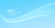 Stylish Blue Background With Smooth Wave
