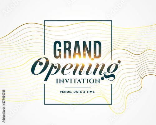grand opening invitation flyer design Fototapete