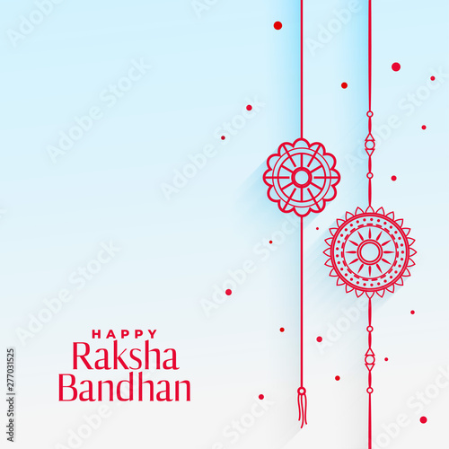Photo  elegant rakhi (wristband) background for raksha bandhan