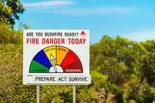 Fire Danger Status And Bush Fi...