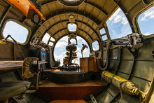 Inside The Nose Section Of A B-17 Bomber
