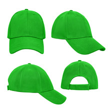Green Baseball Cap 4 View Isol...