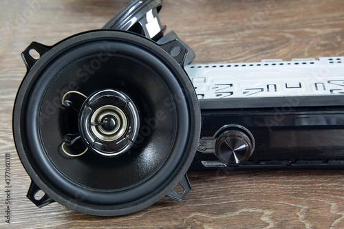 Fotomural Car audio system.Car music.