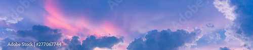 Banner Of Beautiful Pastel Colored Cloudscape At Sunset - 277067744