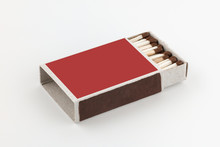 The Open Box Of Matches On Whi...