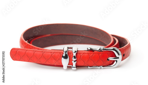 Valokuva Red women thin belt