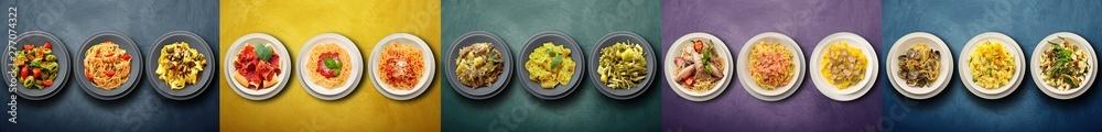Fototapety, obrazy: italian pasta on long background