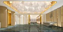 3D Render Of Luxury Hotel Rece...