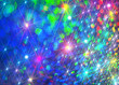 canvas print picture - Colored background with glowing stars