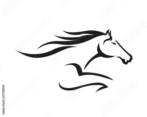Fototapeta Creative Horse Elegant Logo Symbol Design Illustration Vector for Company