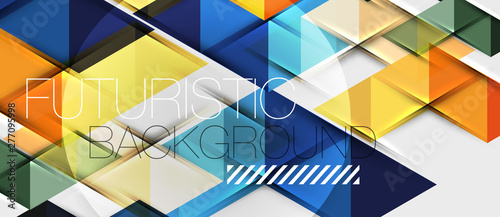 Photo  Abstract geometric background