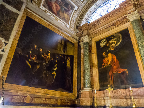 Photo The Contarelli Chapel (or Cappella Contarelli) housing paintings on St