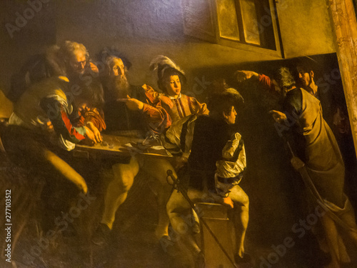 Fototapeta  The famous painting by Caravaggio The Calling of St