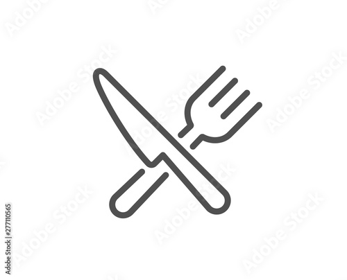 Fotografering Food line icon