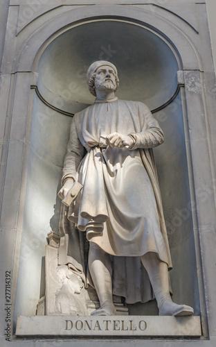 Donatello Statue Uffizi Gallery Florence Tuscany Italy Canvas Print