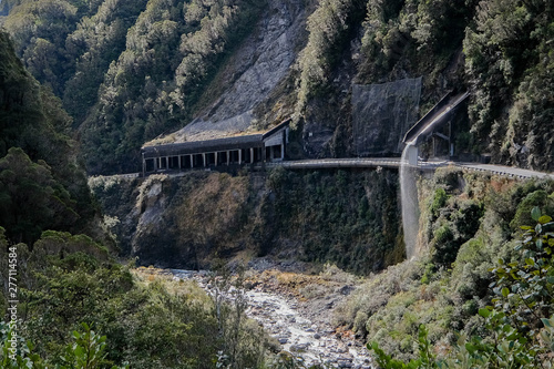 View from the lookout of The Otira Viaduct Canvas Print