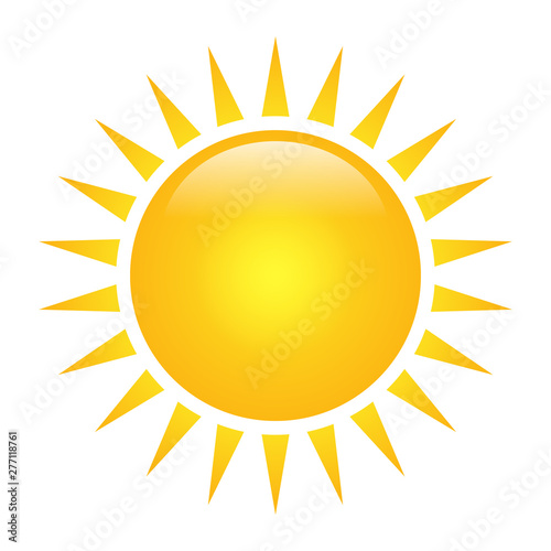 Vector sun solar icon isolated on white background Wall mural