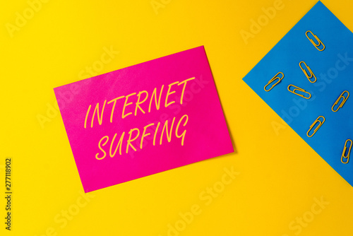 Conceptual Hand Writing Showing Internet Surfing Concept