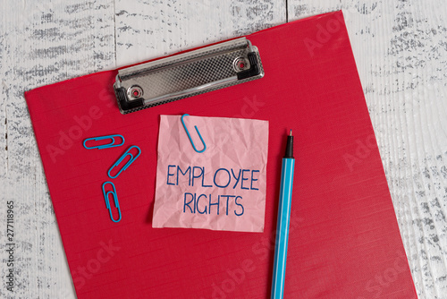 Writing note showing Employee Rights Canvas Print