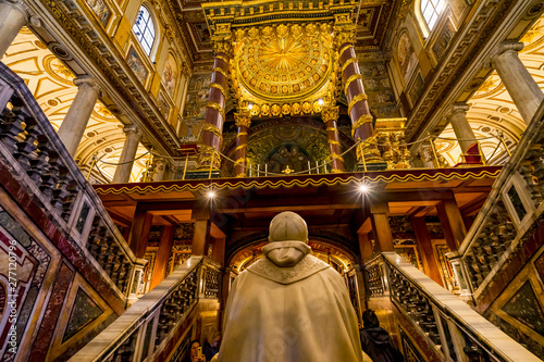 Valokuva Pope Tomb Basilica Santa Maria Maggiore Rome Italy
