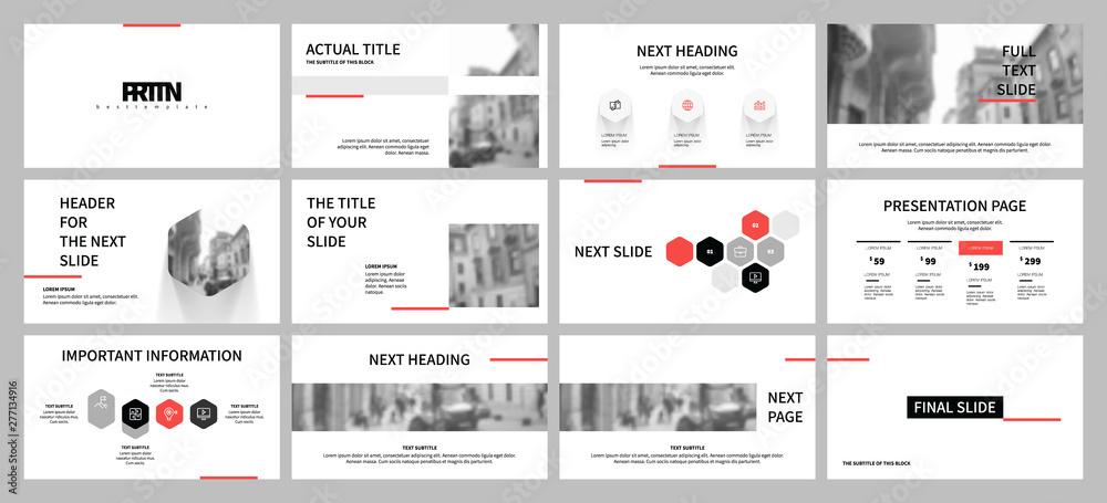 Fototapeta Presentation template design