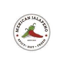 Hot And Spicy Jalapeno Chili Pepper Seal Logo Design
