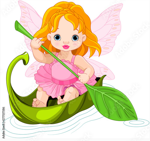 Poster Magie Fairy Floats on a Boat