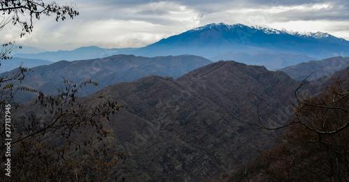 Fototapeta Góry, panorama z miasta Achalciche w Gruzjii obraz