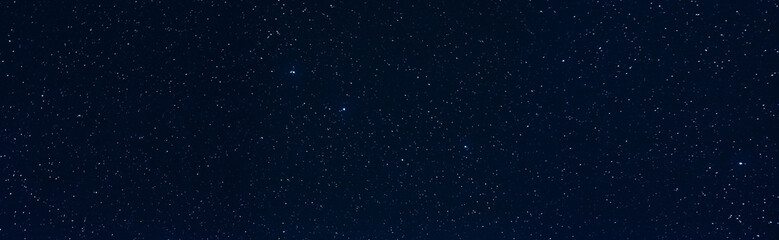 Panorama with many stars in sky