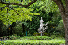 Ancient Stone Bodhisattva Statue