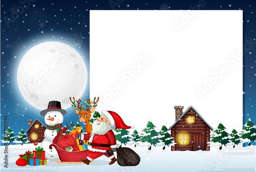 Poster Jeunes enfants A Christmas note template