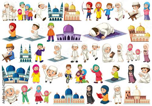 Poster Jeunes enfants Large islamic themed set